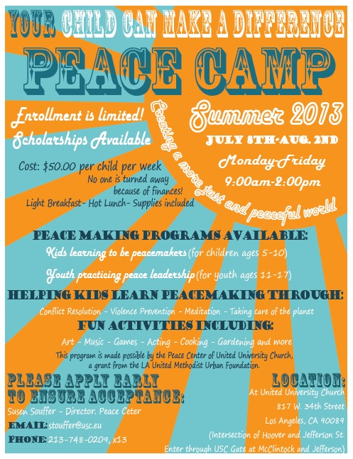 Peace Camp Flyer
